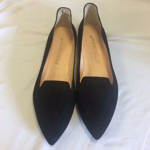 Simplysoles Black Velvet Pointed Toe Flats